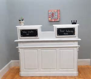 Vintage Reception Desk Store Counter Antique Restaurant Desk Reception Cottage Chic Shabby Thekingsbay