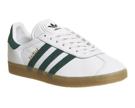Adidas Gazelle 2 0 Green White adidas gazelle vintage white green gum his trainers