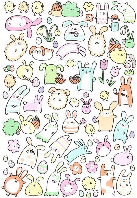 doodle draw easter kirakiradoodles happy easter everybunny x