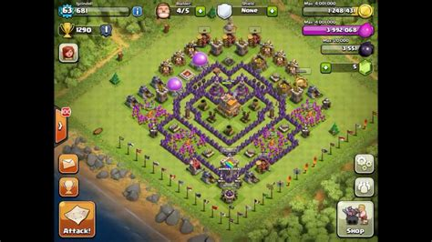 clash of clans level 7 base car interior design clash of clans top 5 th7 trophy bases youtube
