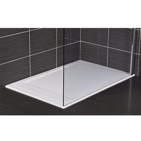 Designer Bathroom Accessories roman infinity 40mm low profile stone rectangular shower