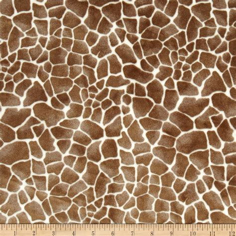 designer animal print upholstery fabric shannon minky cuddle baby giraffe cappuccino discount designer fabric fabric com