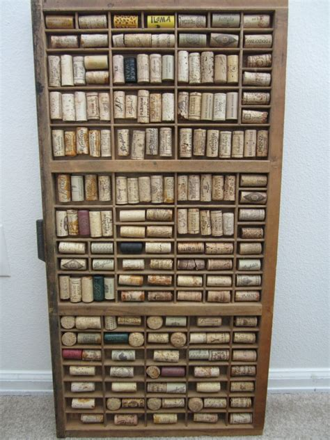 wine bottle wine cork wall art large decorative by vintage hamilton letterpress printers tray upcycled with