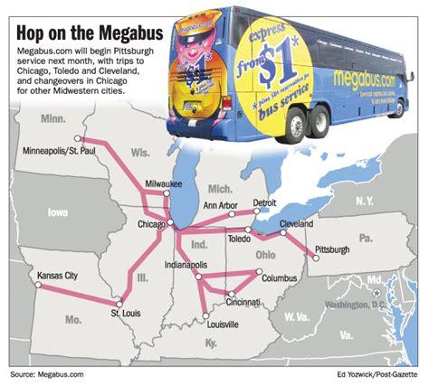megabus usa route map ohio midwest intercity discussion