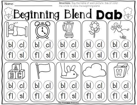 L Blends Coloring Pages by Kindergarten Literacy And Math Centers For Bingo