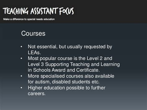 Level 2 Background Check Ta How To Become A Teaching Assistant In The Uk