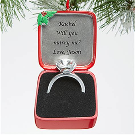beautiful christmas engagement ornaments brasslook