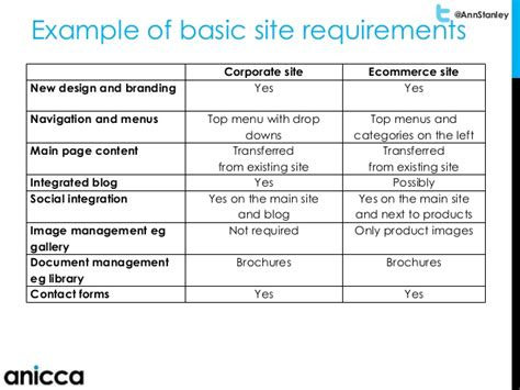 Developing You Business Website Ecommerce Requirements Document Template