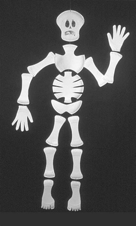 pattern for paper plate skeleton special ideas for halloween meridian magazine