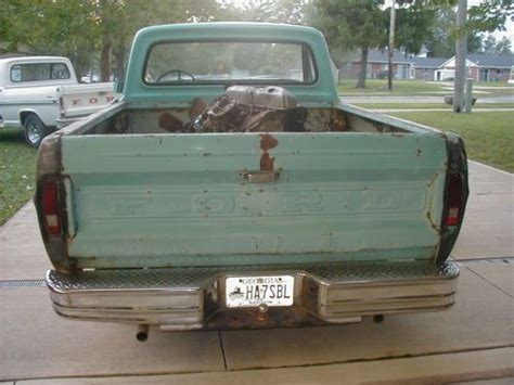 rust free truck beds find used 1968 ford f100 non running 90 rust free short bed project truck in new