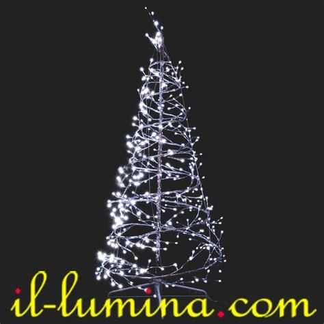 arbol navidad led 240 200 757 193 rbol de navidad espiral led de 2 1m de luz blanca nieve apto para exteriores ip44
