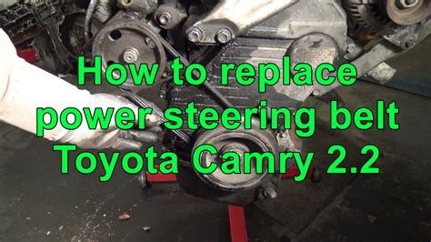 how to replace power steering belt toyota camry 2 2 5f se engine youtube