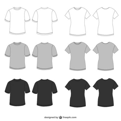 Kaos Golf Exclusive Design 018 white grey and black tees vector free