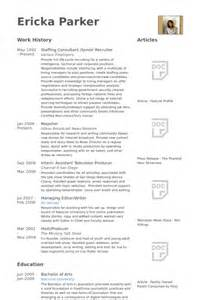 senior recruiter resume sles visualcv resume sles