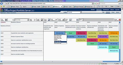 managing portfolios with microsoft office project
