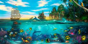 underwater murals amp sea life wallpaper murals your way sea reef life wall mural