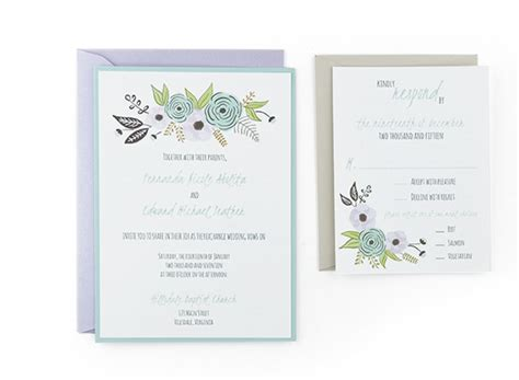 Wedding Invitation Reply Card Template by Algodon Free Wedding Invitation Template