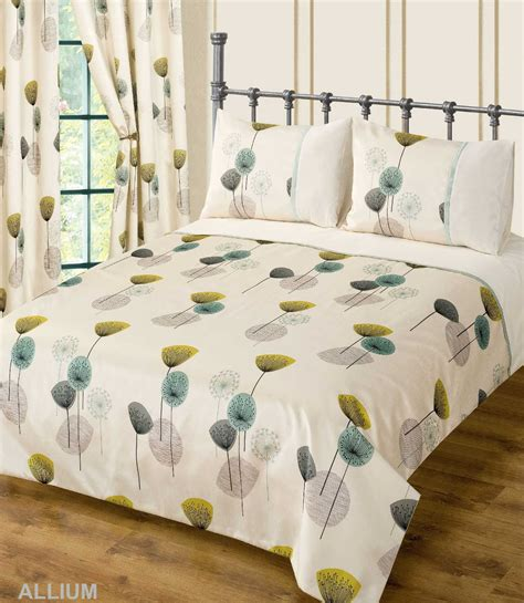 Teal Cream Colour Bedding Duvet Cover Set Stylish Poppy Modern Bedding Sets Uk