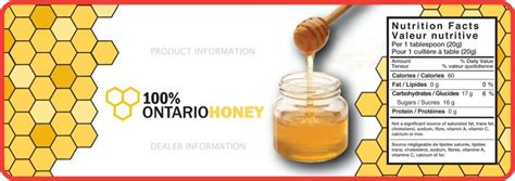 100 Honey Labels Ontario Beekeepers Association Honey Bottle Labels Template