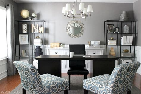 Turning Living Room Into Home Office Duo Ventures A Dining Room To Home Office Reveal