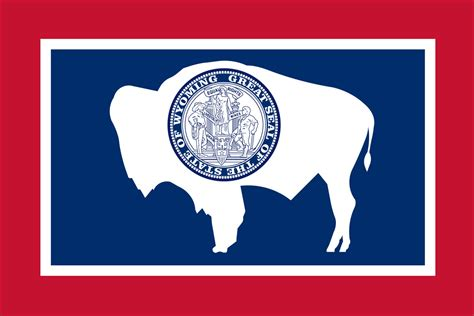 state pictures wyoming state flag flagnations