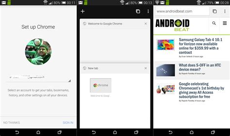 google design for android google brings material design to chrome beta for android