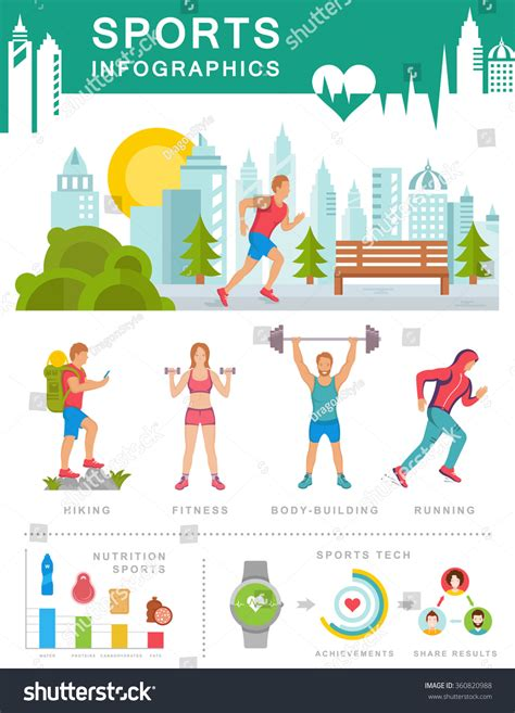 sports infographics templates sport infographic elements illustration running