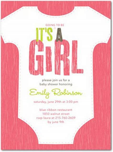 Baby shower invitations for a girl surprise your guest unique