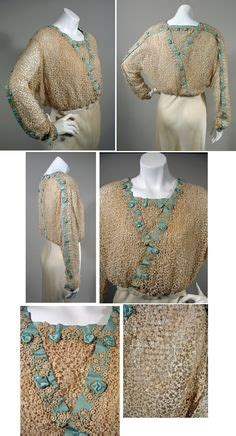 14055 Soft Chiffon With Inner Silk Lace Back Zipper 1910 s blouses on