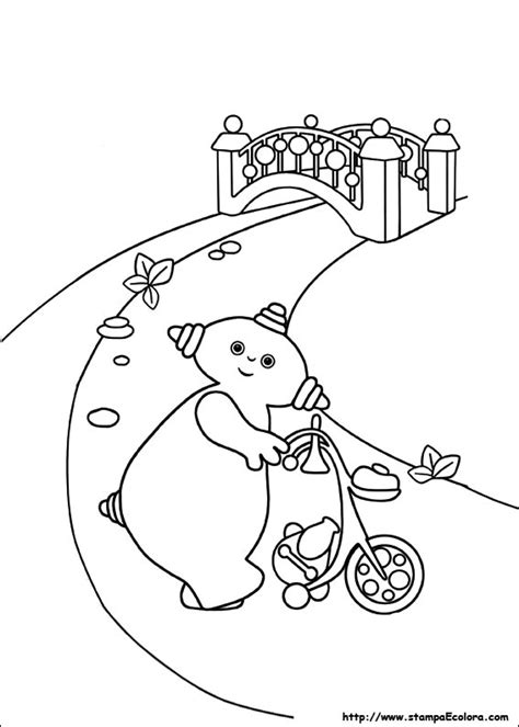 coloring pages on coloring book info disegni de in the night garden