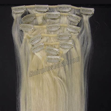 white hair clip in extensions 28 inch 60 white clip in human hair extensions 10pcs