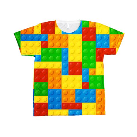 T Shirt Oceanseven Lego A allover lego t shirt unisex dobrador shopateria