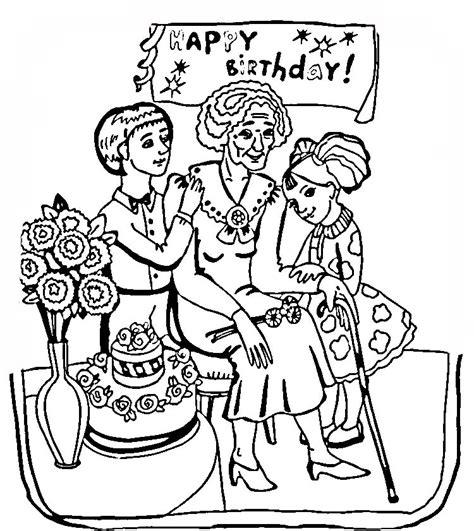 printable birthday cards grandmother grandma birthday cards coloring pages