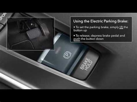 how to use the electric parking brake & automatic brake