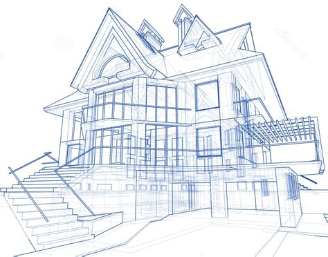 blueprint house house architecture blueprint stock image image 5590761