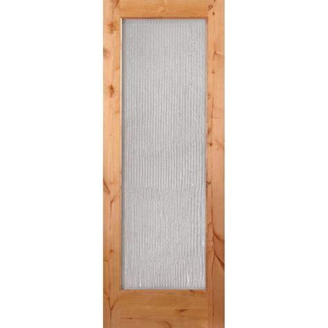 Bamboo Interior Door Feather River Doors 30 In X 80 In 1 Lite Unfinished Knotty Alder Bamboo Woodgrain