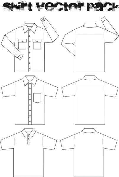Kemeja Oxford 3 Colour templates 2 3 skyje