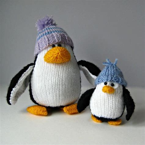 how to knit a penguin bobble and penguins knitting pattern by amanda