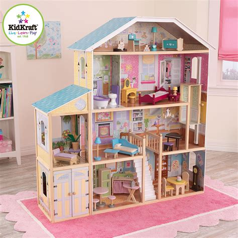 dolls house kidkraft the best large wooden dolls houses with furniture for
