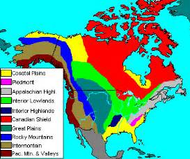 us and canada landform map mcclasses9 physiographic regions of canada