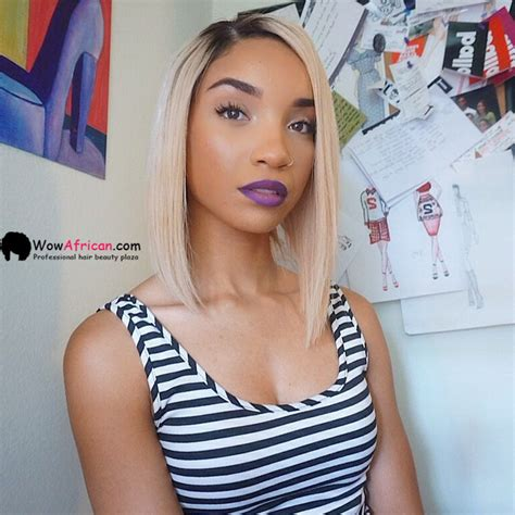 Beyonce Inspired Bob Style Brazilian Ombre Hair Lace Wig