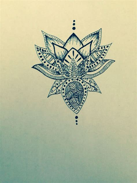 lotus mandala tattoo lotus flower drawing sharpie mandala