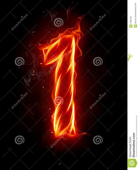Fiery Numbers Stock Photos Images Number 1 Royalty Free Stock Photo Image 7266105