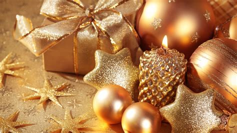 xmas wallpaper gold wallpaper christmas new year star candle gift balls