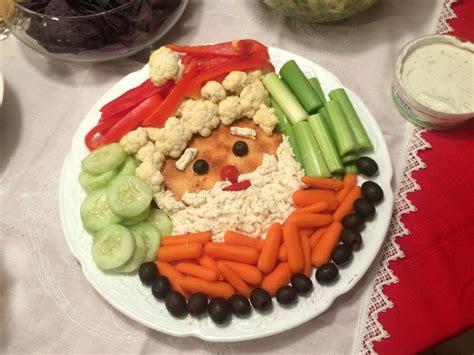 vegetable santa claus platter fenton 2015 in