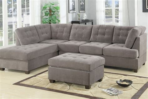microsuede sectional with chaise contemporary 3pc grey sectional sofa microsuede reversible