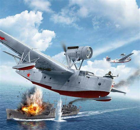 soviet flying boat a beriev mbr 2 soviet floatplane bombing a german cargo