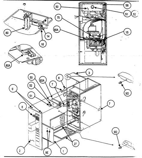 carrier furnace parts diagram carrier furnace blower parts model 58mta060f10112