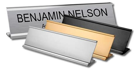 name plates with traditional aluminium holders