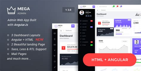Mega Bootstrap Admin Web App With Angularjs Powered By Themenum Themeforest Angularjs Landing Page Template